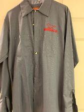 Vintage 90s Ford Mustang Mechanic  Auto Shop Shirt Men's Medium-LN Long  Sleeve