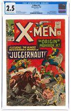 X-Men #12 (Jul 1965 Marvel, Comics) CGC 2.5 GD+ | Professor X, Juggernaut