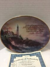Thomas Kinkade Collectible Plate Clearing Storms #50