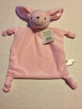 DanDee pink bunny lovie knotted lovey security blanket