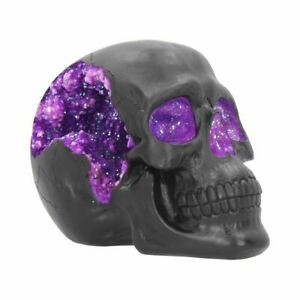 Nemesis Now Geode Violet Cristaux Crâne Gothique Effrayant Halloween Figurine