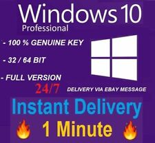 Windows 10 Pro Professional 32/64 Bit Genuine Key WIN 10 PRO INSTANT Product key