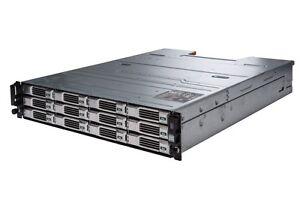 """Dell EqualLogic PS4100XV 2U 12x 450GB SAS 15k 3.5"""" iSCSI SAN Storage Array 5.4TB"""
