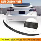 Carbon Fiber Rear Trunk Spoiler Wing Lip Fit For Tesla Model 3 Sedan 2016-2021
