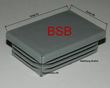 10 Lamellenstopfen 40x30 GRAU für WS 1,1-2,5mm  Rohrstopfen Rechteckstopfen