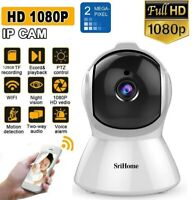 SRICAM Wi-Fi TELECAMERA IP CAMERA HD 1080p WIRELESS IR MOTORIZZATA RETE P2P CAM