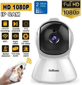 SRICAM Wi-Fi TELECAMERA IP CAMERA HD 1080p WIRELESS IR MOTORIZZATA RETE P2P CAM
