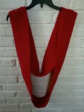 Handmade red long knit scarf NWT