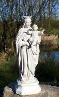 antike Heiligenfigur Madonna mit Kind Bisquittporzellan S&S 36 cm Sammlerstück