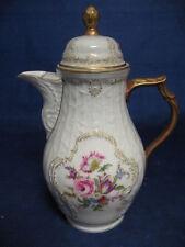 "RARE Diplomat Sanssouci Rosenthal Ivory Germany Lg. Floral Coffee Pot 10.5"""