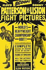 FLOYD PATTERSON vs SONNY LISTON 8X10 PHOTO BOXING POSTER PICTURE