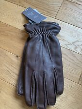BNWT  Marks Spencer Mens Brown Leather Gloves ~  size M Medium