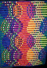 Rainbow Curves Wall Art Quilt