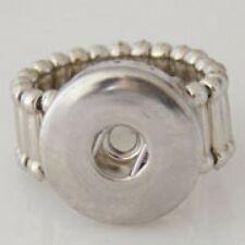 SNAP STRETCH RING Interchangeable JEWELRY Charm Button 18mm Fits Ginger Snaps
