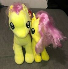 Lot of (2) TY My Little Pony Fluttershy Plush Big & Small
