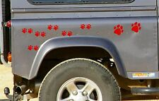 28 RED PAW PRINT STICKERS Car Wall Stickers Decals Graphics Cat Dog