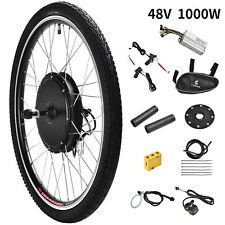 48V 1000W 26'' Front Wheel Electric Bicycle E-bike Kit Conversion Cycling Motor