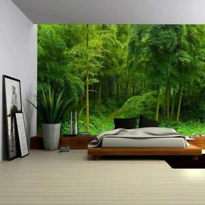 Wall26 - Hidden Path in a Bamboo Forest Wall - Wall Mural - 66x96 inches