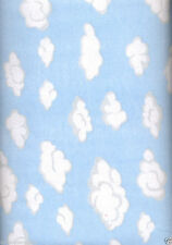 Cloudy Blue Sky FLANNEL Quilt Fabric - 1 Yard