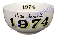 Bol année de naissance 1974 en grès - idée cadeau anniversaire neuf