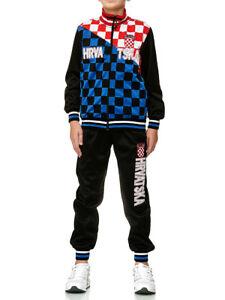 XRebel Kroatien Jungen Kinder Jogging Anzug Sport Hose Fitness Hoodie Hose DR3