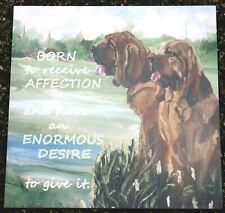 More details for bloodhound dog new glossy hardboard plaque tile sandra coen artist print