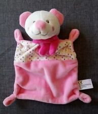 Doudou souris ours rose plat nuage et pois Nicotoy en etat neuf sans étiquette