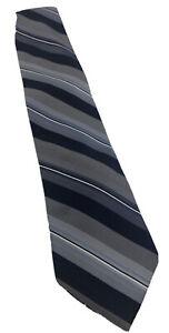 Calvin Klein Men's Blue White Striped Tie