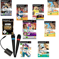 PS2 Playstation 2 Singstar Spiele Party, 80s, Abba, Schlager Micros Auswahl