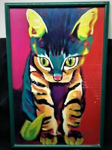 SQUIRT the Cat / Kitten by Ron Burns-Framed Print 1996 Excellent Condition