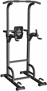 Sportsroyals Power Tower Dip Station Pull Up Bar for Home Gym Strength Training
