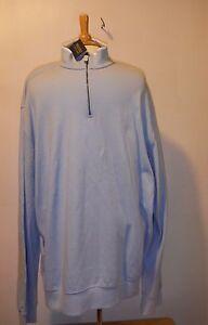 Polo Golf Ralph Lauren Bluebell Blue 1/2 Zip Soft Pullover Long sleeve  XXL $125