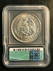 1902-Mo, AM Mexican Peso graded AU 55 by ICG