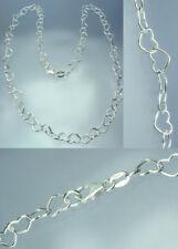 925 Sterling Silber Herzen Herz Herzenkette in 42 cm Länge 5,0 x 6,5 mm NEU