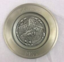 Vintage 1983 Rawcliffe Pewter Christmas Plate Limited Edition Hard to Find