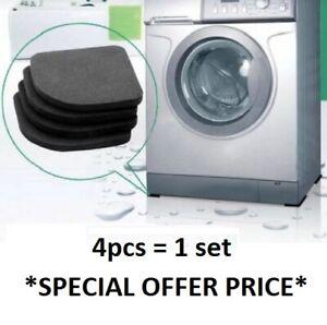 Washing Machine Anti Noise Vibration Pads Shockproof Feet Pad Dryer UK