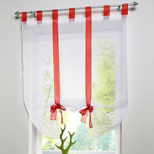 Liftable Roman Blinds Tab Top Sheer Kitchen Balcony Window Curtain Voile New
