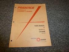 Prentice 8T Crane Boom Forestry Equipment Parts Catalog Manual Book