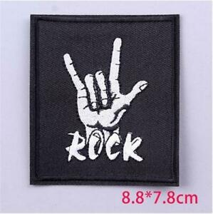 ROCK FIST PUNK IRON ON SEW ON EMBROIDERED PATCH MUSIC BANDS HEAVY METAL ROCK
