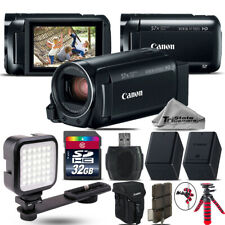 Canon VIXIA HF R 800 57x Zoom 3.28MP Camcorder + LED + EXT BATT - 32GB Bundle
