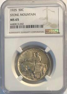 STONE MOUNTAIN Commemorative Silver Half Dollar - 1925 - NGC MS-65