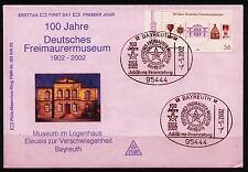 BRD Brief MiNr 2247 (PMR Nr 193Bc) 100 Jahre Deutsches Freimaurermuseum -Museum-