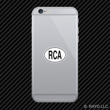 RCA Central African Republic Country Code Oval Cell Phone Sticker Mobile