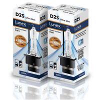 2 x D2S XENON BULB 6000K HID Genuine LUNEX compatible 85122 66040 66240 53500 UB