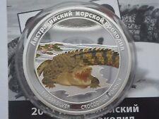 Tuvalu 1 dollar  2011 Australian Sea Crocodile DANGER Silver 1 oz  mint 2000 Box