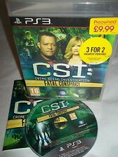 Sony PS3 Playstation 3 Console Game - CSI Fatal Conspiricy