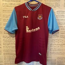 2001-2003 West Ham United Hammers WHUFC Home Football Shirt FILA Dr Martens XS