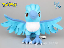 "Pokemon Articuno Freeze Plush Soft Toy Stuffed Animal Legendary Bird 7"" Teddy"