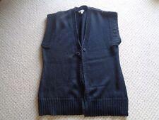 MEREDITH  Merino/Acrylic  Vest   Black     EC    Size XL