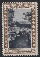 Canada Poster stamp: 1937 Canadian National Exhibition CNE, Auto-Trains -dw13y